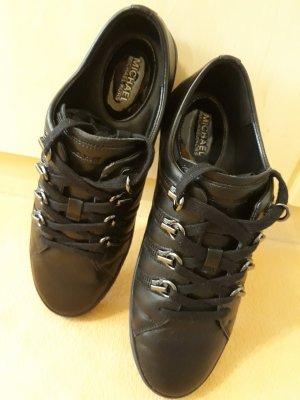 Michael Kors Basket à lacet noir cuir