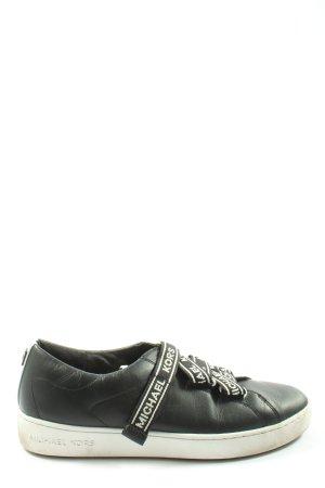 Michael Kors Sneaker con strappi nero-bianco caratteri stampati stile casual