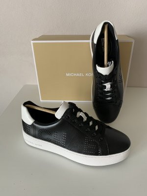 Michael Kors Sneaker schwarz NEU Gr. 8M 38 Poppy Lace Up Lasered Leather
