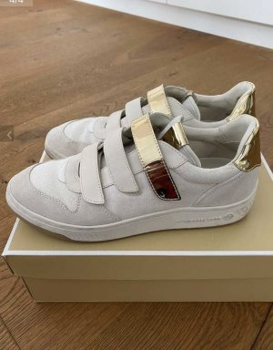 Michael Kors Hook-and-loop fastener Sneakers cream-gold-colored