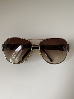 Michael Kors Occhiale da sole rotondo marrone scuro-oro