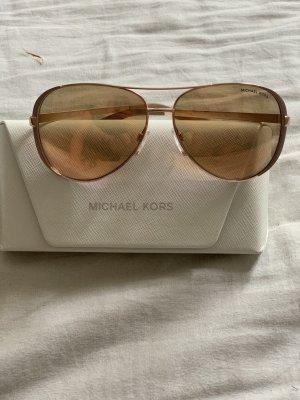 Michael Kors Gafas de sol redondas color rosa dorado