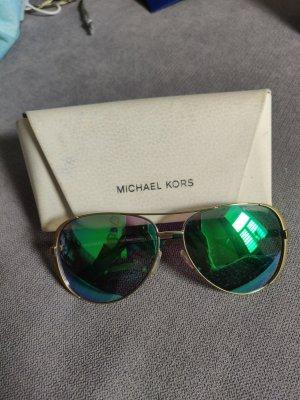 Michael Kors Gafas de sol redondas color oro-verde