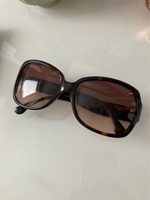 Michael Kors Oval Sunglasses dark brown-gold-colored