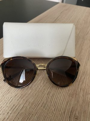 Michael Kors Round Sunglasses gold-colored-brown