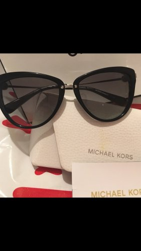 Michael Kors Oval Sunglasses black-silver-colored