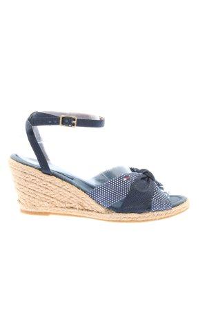 Michael Kors Wedges Sandaletten blau-creme Punktemuster Casual-Look