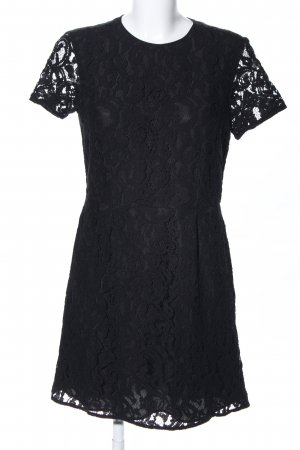 Michael Kors Vestido de encaje negro Mezcla de patrones look casual