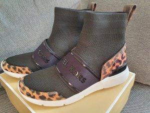 Michael Kors Sterling Bootie gr. 38,5 Sneaker Turnschuhe schuhe schwarz braun leo