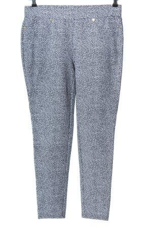 Michael Kors Jersey Pants blue-white allover print elegant