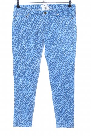 Michael Kors Stretch Trousers blue-white allover print extravagant style