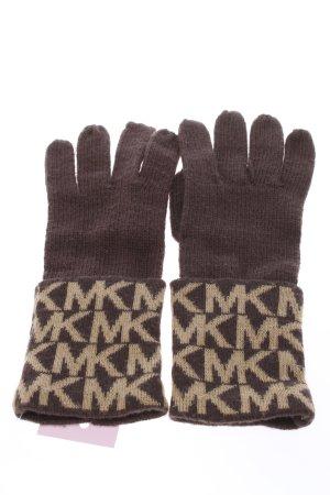Michael Kors Gants en tricot brun-crème imprimé avec thème