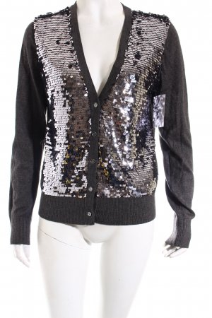 Michael Kors Strickjacke dunkelgrau Glitzer-Optik