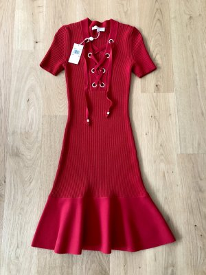 Michael Kors Knitted Dress red