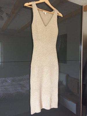 MICHAEL KORS Strickkleid Gr. S gold – metallic Damen Dress Abendkleid ❤️