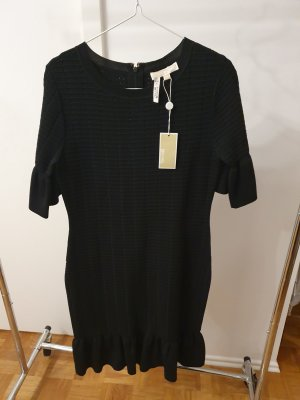 Michael Kors Strickkleid Neu Gr. M schwarz fishtail Volants