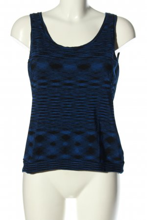 Michael Kors Stricktop blau abstraktes Muster Casual-Look