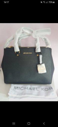 Michael Kors Sutton Handtasche schwarz gold neu blogger