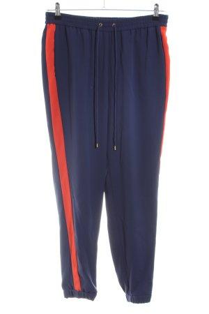 Michael Kors Pantalon de jogging bleu-rouge polyester