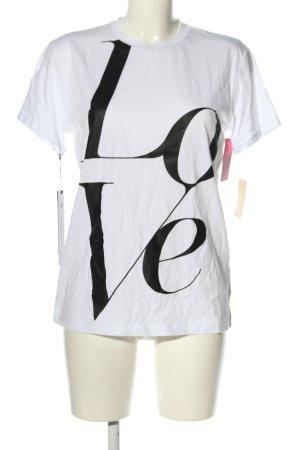 Michael Kors T-shirt biały-czarny Nadruk z motywem W stylu casual
