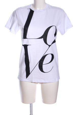 Michael Kors T-Shirt weiß-schwarz Schriftzug gedruckt Casual-Look