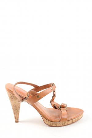 Michael Kors T-Strap Sandals brown-bronze-colored casual look