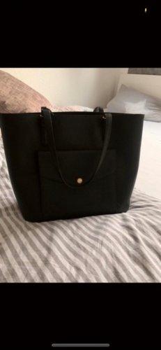 Michael Kors Shopper black-gold-colored leather