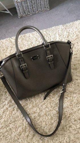 Michael Kors Tasche Ciara Satchel Leather Bronze Silber Grau Large