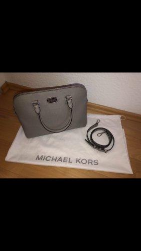 Michael Kors Tasche Cindy Dome Satchel Leder grau