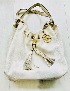 MICHAEL KORS Tasche Damen Original! Weiß, Leder mit Monogramm