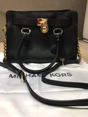 Michael Kors Bolso negro-color oro Cuero