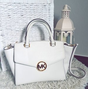 Michael Kors Tasche Hudson satchel LG vanilla gold creme
