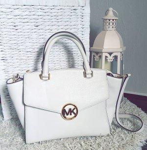Michael Kors Tasche Hudson satchel LG vanilla gold creme neuwertig