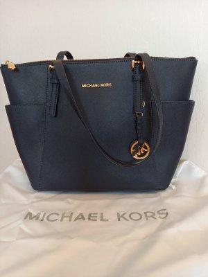 Michael Kors Tasche Jet Set blau - wie NEU