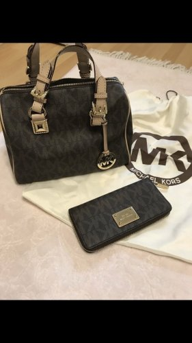 Michael Kors Handbag dark brown-beige
