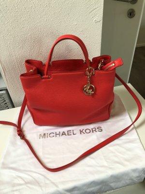 Michael Kors Bolso barrel rojo