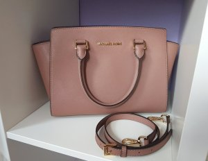 Michael Kors Tasche Selma Medium Dusty Rose Altrosa Gold