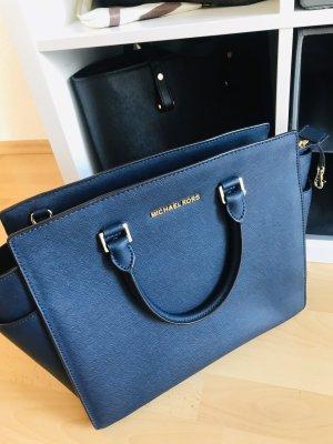 Michael Kors Handbag dark blue leather