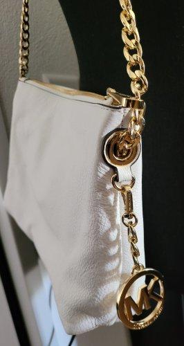Michael Kors Bandolera blanco-color oro