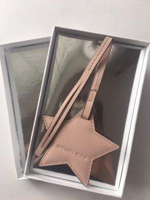 Michael Kors Taschenanhänger, Original, Leder, hellrose, NP: $28