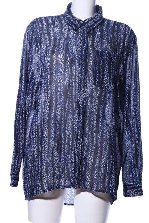 Michael Kors Transparenz-Bluse blau abstraktes Muster Elegant