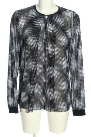 Michael Kors Transparenz-Bluse schwarz-weiß Allover-Druck Casual-Look
