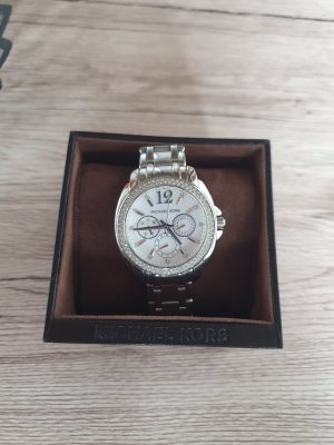 Michael Kors Watch With Metal Strap white-silver-colored