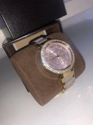 Michael Kors Reloj con pulsera metálica color rosa dorado-color oro
