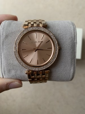 Michael Kors Watch With Metal Strap pink