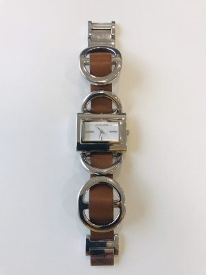 Michael Kors Montre avec bracelet en cuir argenté