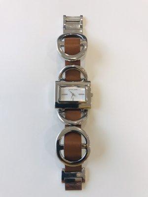 Michael Kors Reloj con pulsera de cuero color plata
