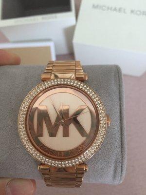 Michael Kors Reloj con pulsera metálica color rosa dorado-blanco