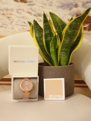 Michael Kors Zegarek analogowy w kolorze różowego złota-stary róż