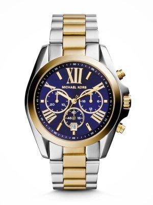 Michael Kors Uhr Bicolor Gold & Silber mit blauen Ziffernblatt NEU
